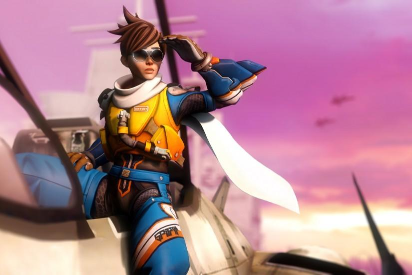 download overwatch tracer wallpaper 3000x1688 for xiaomi