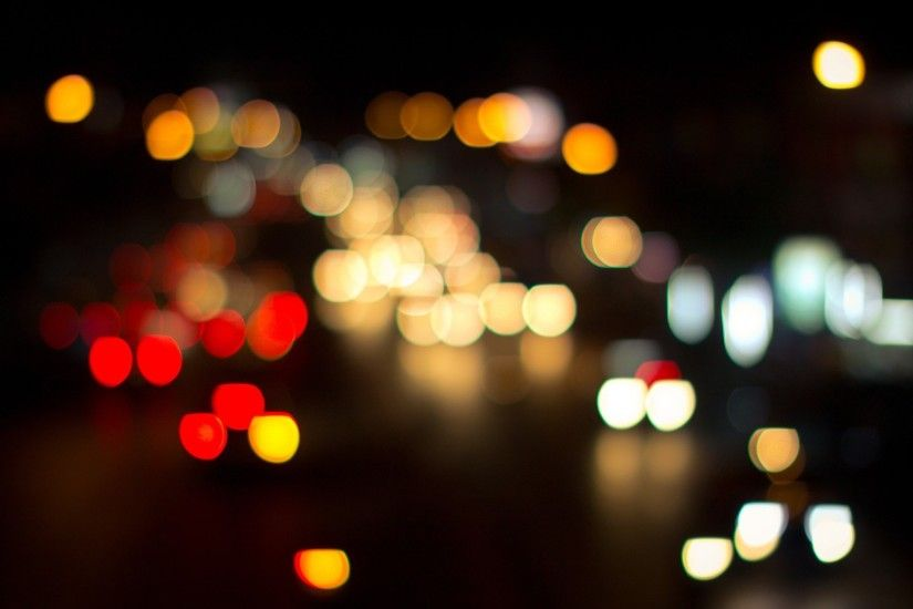 City Lights Nighttime Bokeh - Photography Wallpapers