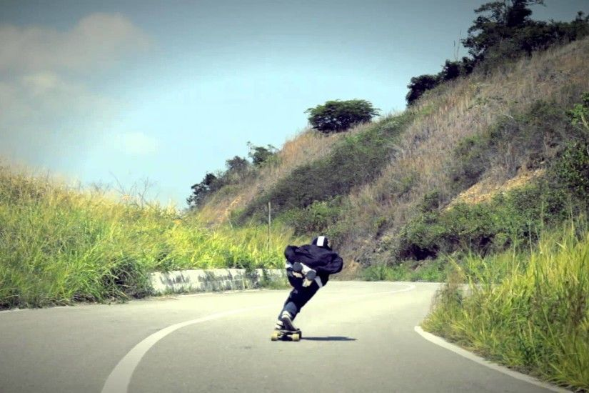 Longboarding - Downhill Shredding la carretera vieja de la Guaira - YouTube