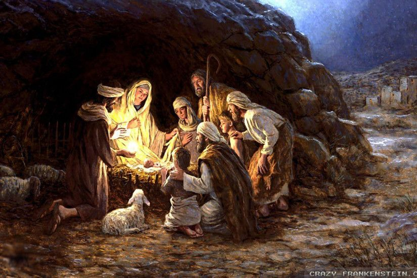 Wallpaper: Baby Jesus Christmas nativity wallpapers. Resolution: 1024x768 |  1280x1024 | 1600x1200. Widescreen Res: 1440x900 | 1680x1050 | 1920x1200