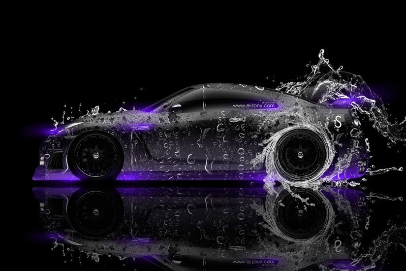 ... Nissan GTR R35 Side Water Car 2014