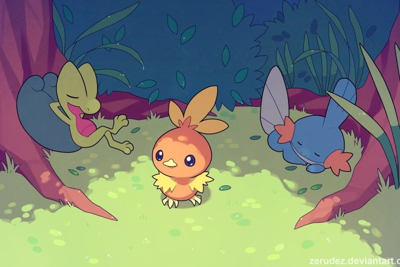 Torchic, Pokémon, Treecko, Mudkip HD Wallpapers / Desktop and Mobile Images  & Photos