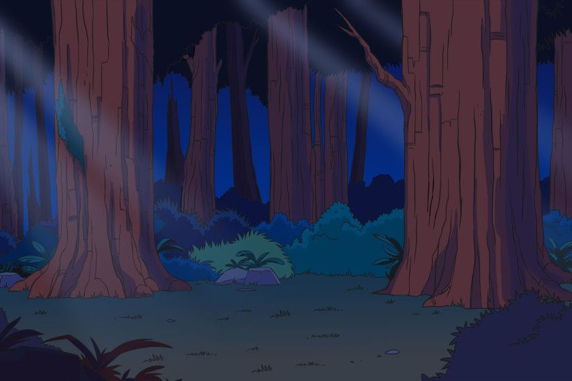 Looney tunes forest background - photo#4