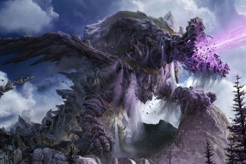Stone dragon wallpaper