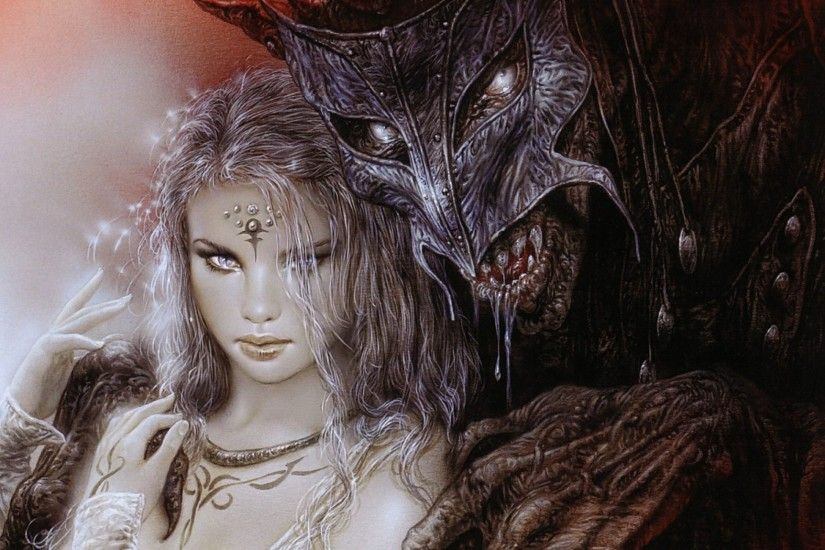 Luis Royo images Lady and Demon HD wallpaper and background photos