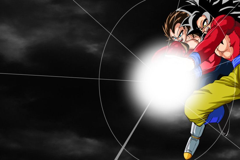 ... SSJ4 Goku and Vegeta (Wallpaper) by harundoener