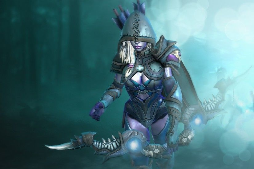 Preview wallpaper drow ranger, dota 2, custom skin 1920x1080