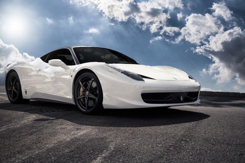 wallpaper.wiki-Ferrari-458-white-spyder-wallpaper-hd-