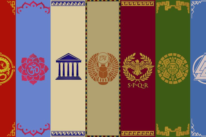 ... Smite Pantheon Banners ~Wallpaper~ by Silverfoxxe