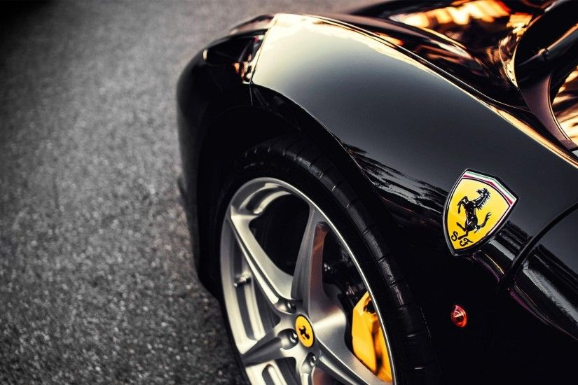 Black Ferrari Section wallpapers and stock photos