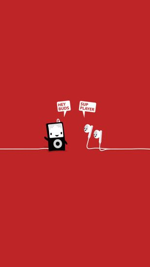 Funny Music Player Earphones Buds Android Wallpaper ...