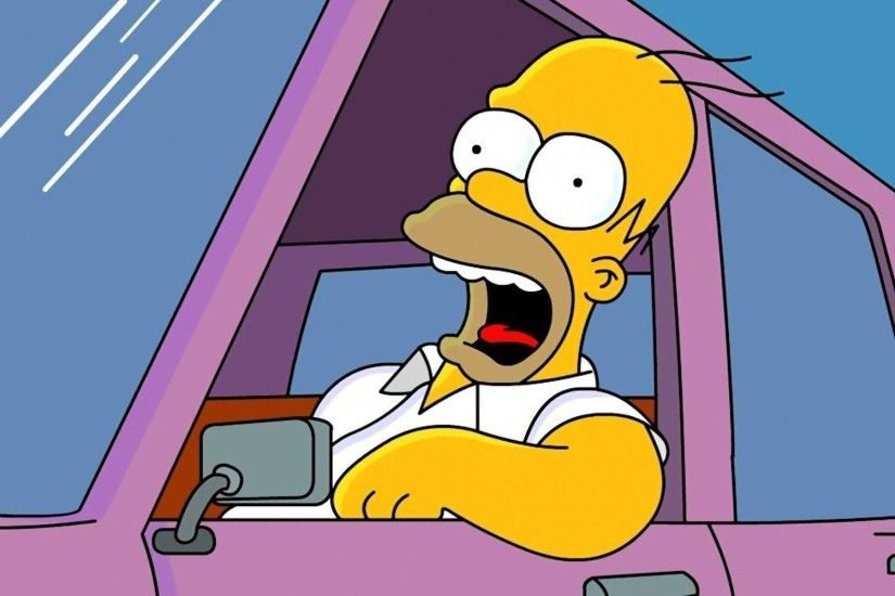 Homer Simpson Mac Apple Wallpaper | Wallpaper Magazine