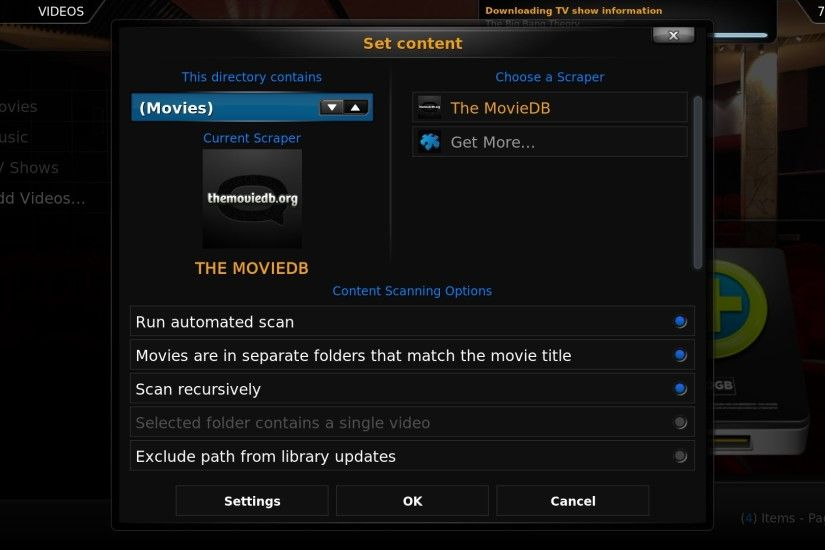 Add the Files to Your XBMC Library