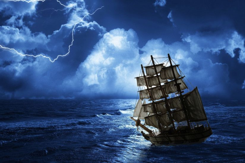 a ship at sea | Ghost ship row sea Wallpapers Pictures Photos Images