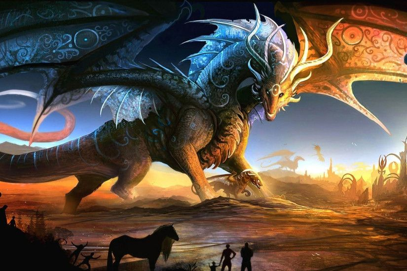 hd pics photos 3d fantasy dragon animals wallpaper