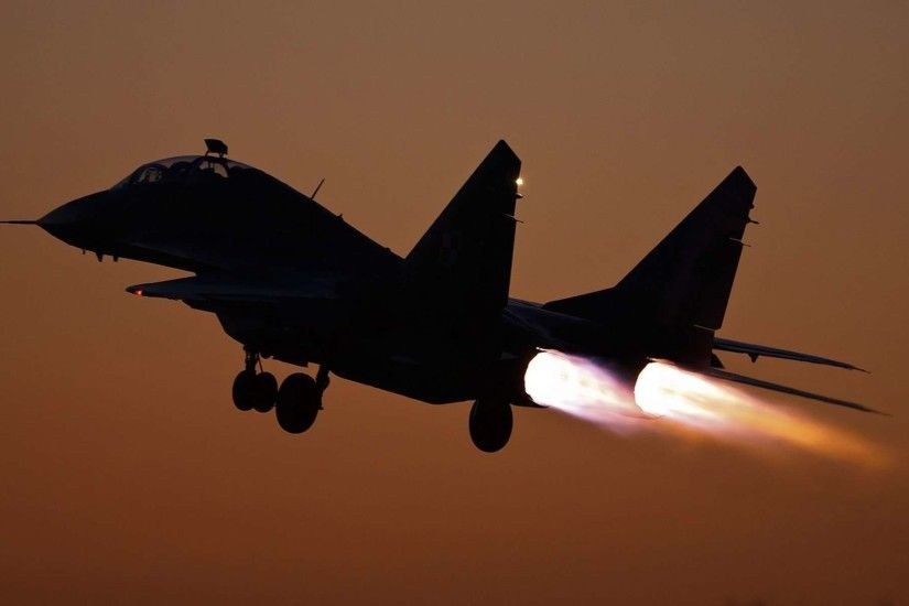 MiG 29 Taking Off Wallpaper HD Widescreen | High Quality PC .