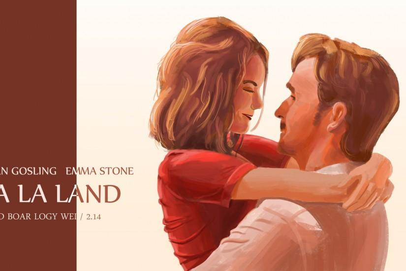 Greeting card. One. Two. Three. Four. LA LA LAND