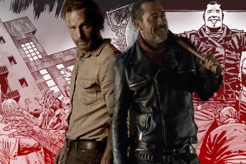 Negan Spills Blood on Page and Screen With The Walking Dead Finale - YouTube
