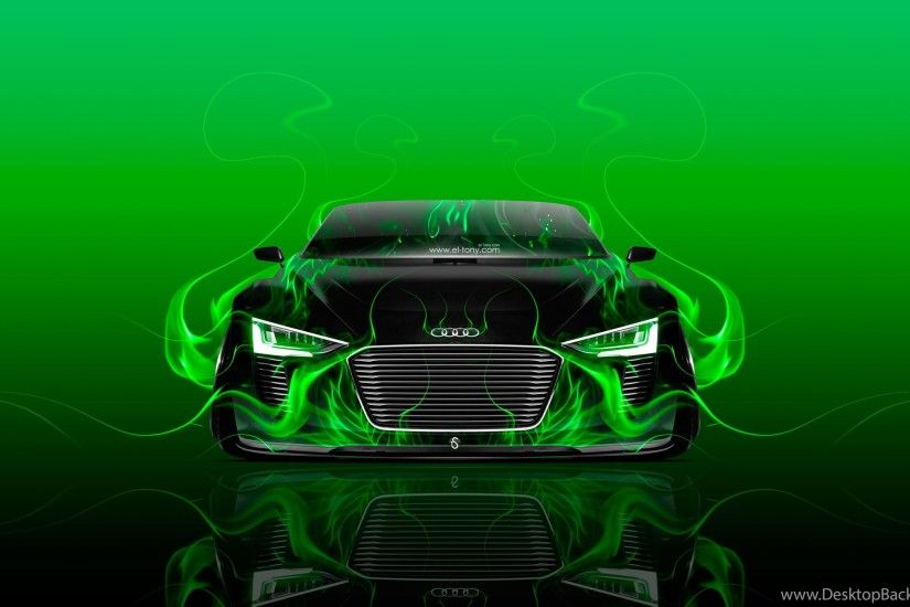 Audi E tron Spyder Front Fire Abstract Car 2015 Wallpapers El Tony .
