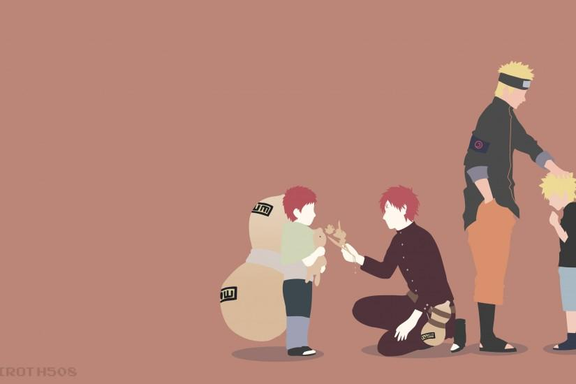 Naruto and Gaara | Minimalist Wallpaper ...