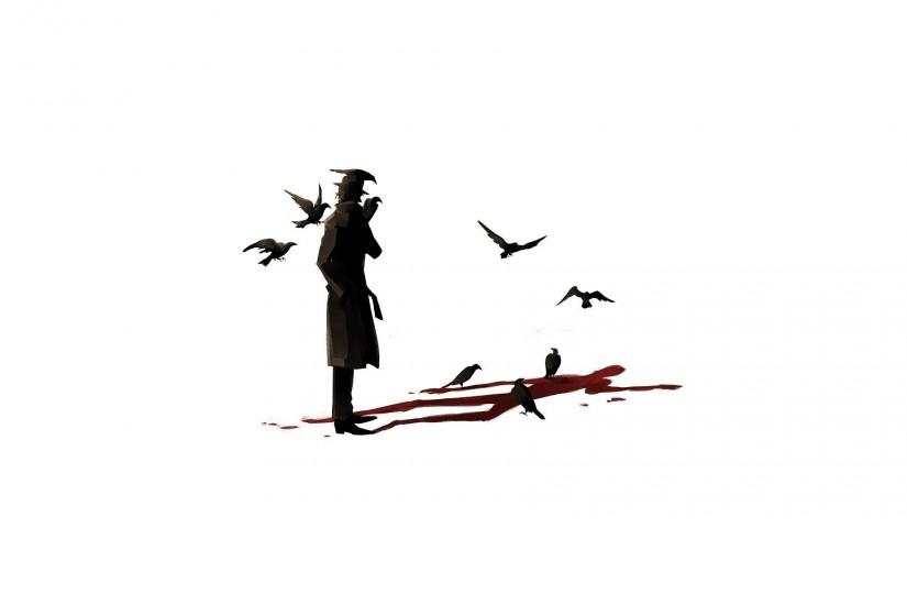 Man With Crows Wallpaper