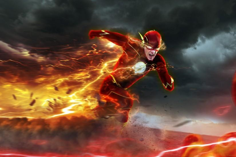 Barry Allen in The Flash Season 2 TV Poster wallpapers .