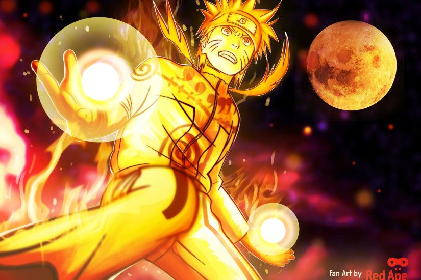 Naruto Uzumaki Nine Tailed Fox Wallpaper Free HD