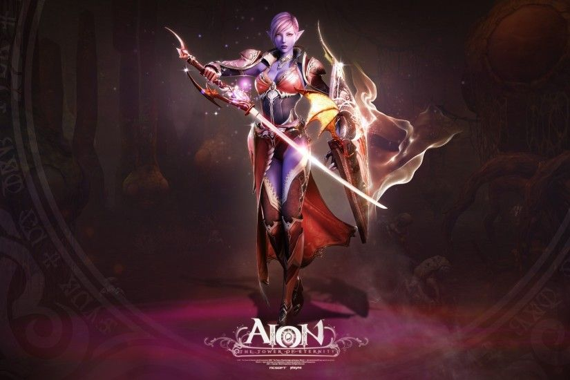 Wallpaper Aion the tower of eternity, Girl, Skull, Magic, Fire, Monster HD,  Picture, Image