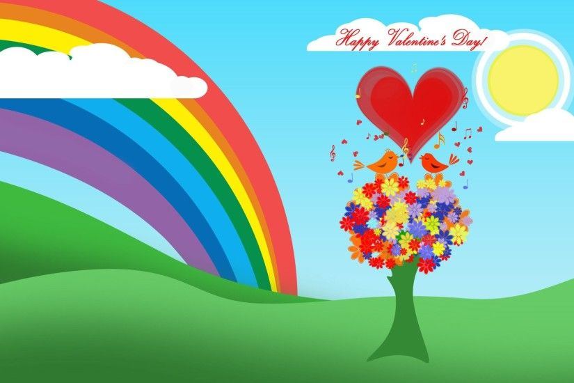 Holidays-Sun-Heart-Love-Tree-Bird-Cloud-Rainbow-