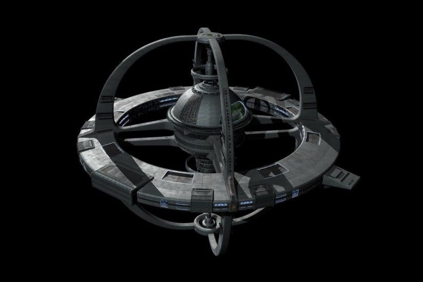"""Test render of deg's model of the starfleet replacement for the Cardassian  DS9."""