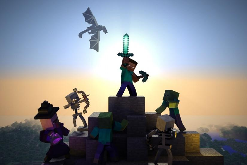 most popular minecraft background 1920x1080 for htc