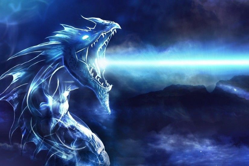 Preview wallpaper dragon, mouth, night, light 2048x1152