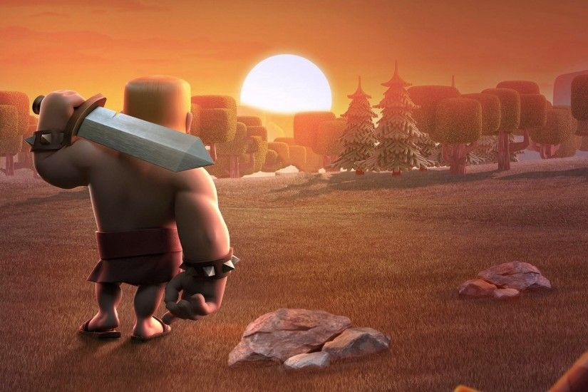 Download Clash of Clans Barbarians Wide Wallpapers from Below Resolution.