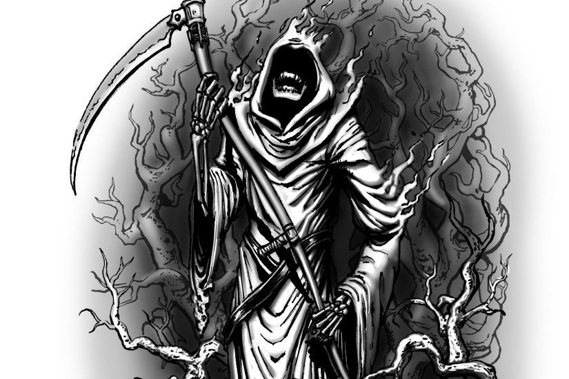 Cool Grim Reaper Wallpapers | Scary Grim Reaper Drawings