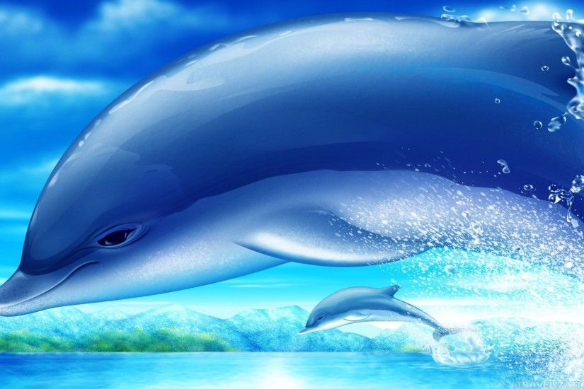 ... 2560×1920. Cute dolphin Wallpapers