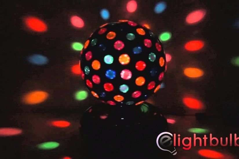 "10"" Black Rotating Disco Ball with 121 Points of Light from Creative Motion  - YouTube"