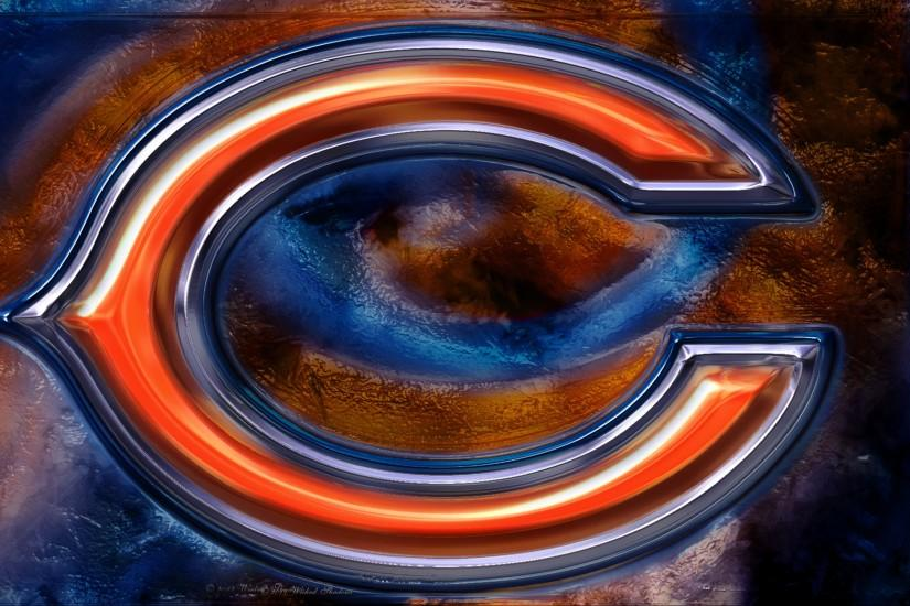 Chicago Bears 3D Logo Wallpaper