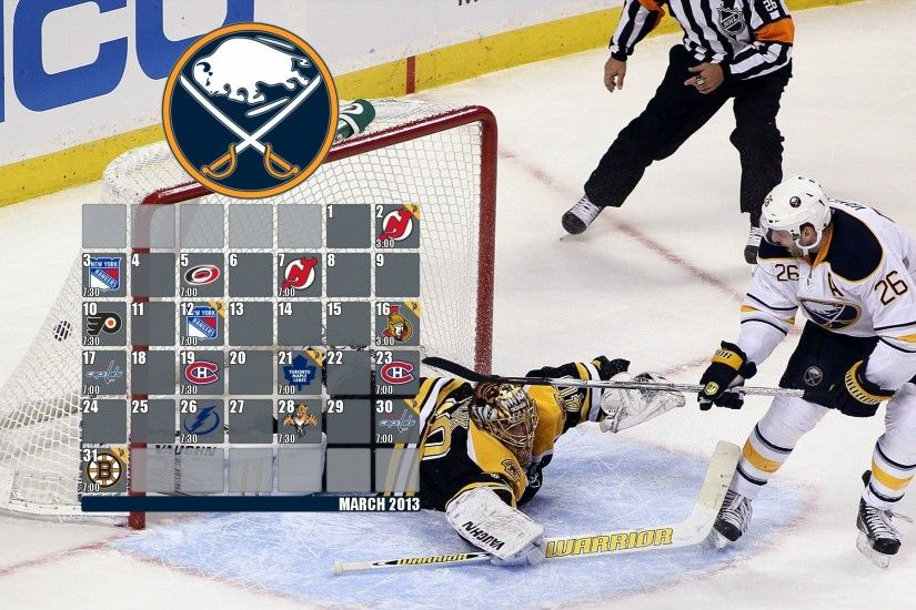 My Sabres 2013 March calendar desktop wallpaper ...