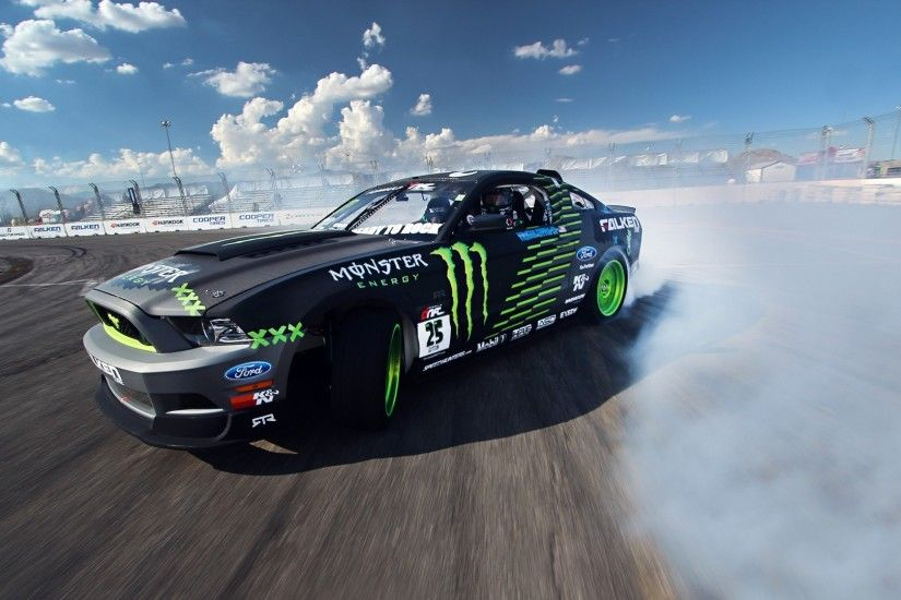Preview wallpaper competition, drift, sports car, mustang, clouds, ford, gt