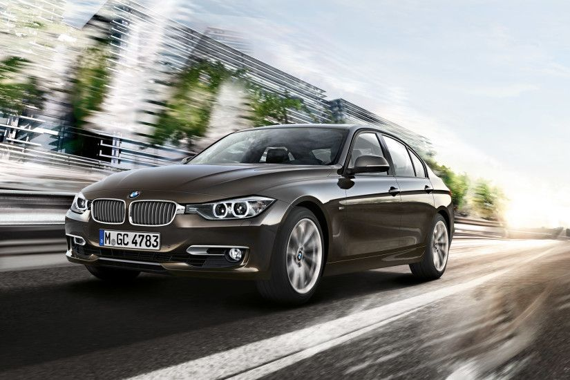... BMW 3 Series In Brownish Gray Front View Wallpaper ...