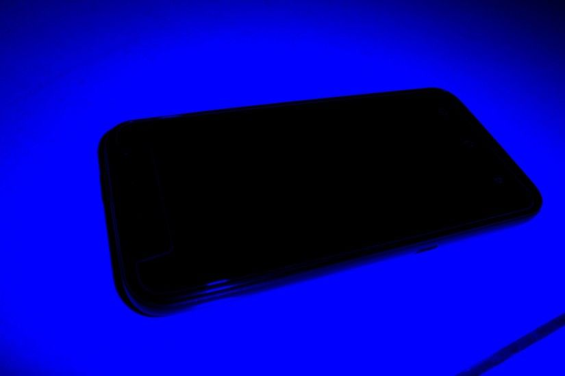 Cell Phone - Dark Blue Background