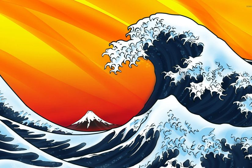 Japanese style waves wallpaper - Vector wallpapers - #14950