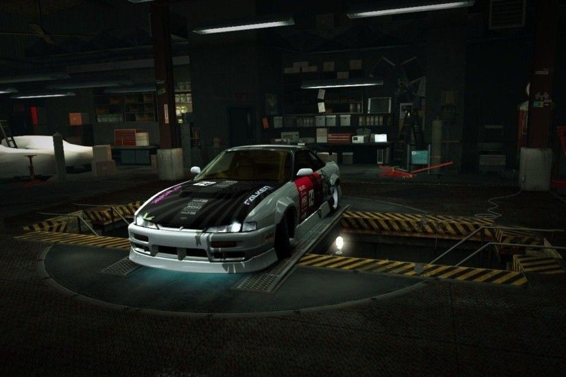 Speed world nissan 200sx s14 garage nfs wallpaper | AllWallpaper .