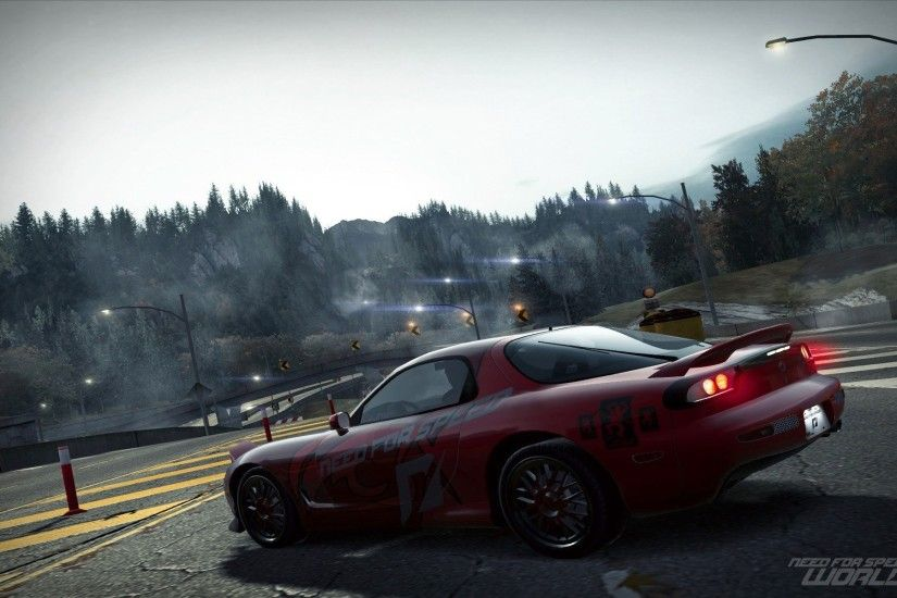 nfs world mazda rx-7 road