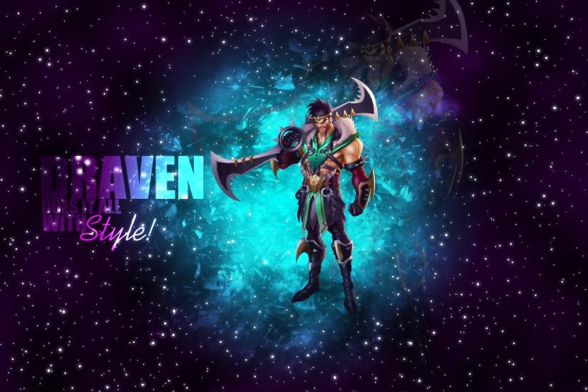 Draven, ADC, Marksman, League Of Legends, Stars, Galaxy Wallpaper HD