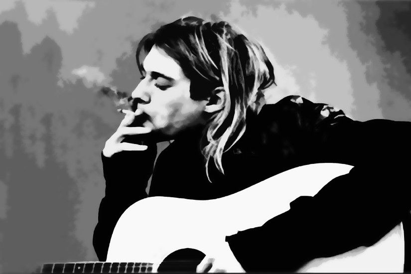 Kurt Cobain Guitar Smoke