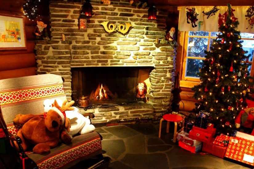 ... christmas · tree, christmas, fireplace