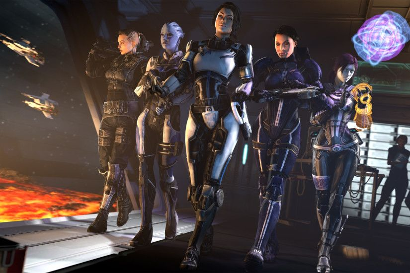Video Game Mass Effect Ashley Williams Liara T'Soni Tali'Zorah Jack (Mass