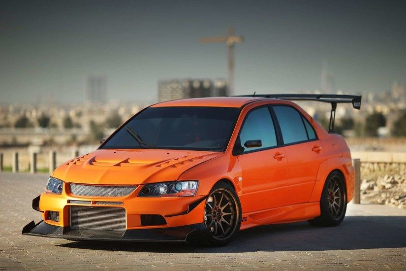 View Of Mitsubishi Lancer Evo 9 Hd Wallpapers : Hd Car Wallpapers