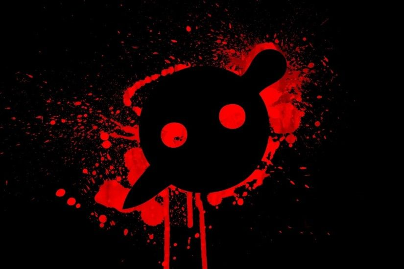 Black Music Red Simple Knife Party Electronic 1920x1080 Wallpaper HD